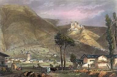 gravure château de Rochebaron